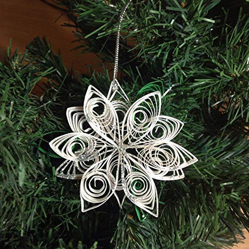 Decorazioni Natale Quilling.Decorazione Stella Di Natale Arte Quilling Amazon It Handmade