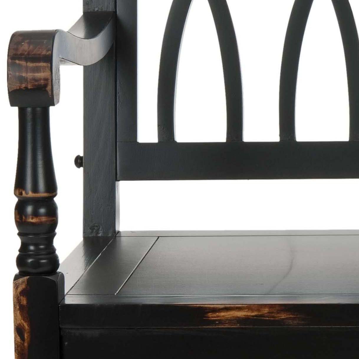 Safavieh American Homes Collection Benjamin Distressed Black Bench