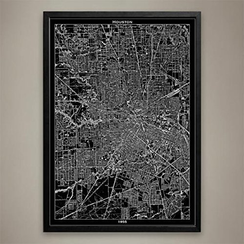 Houston Map Print, Home or office - International Usps Options Shipping