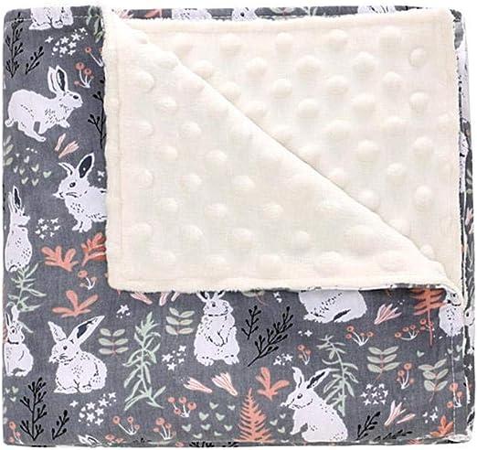 Volwco - Manta Suave para bebé, Unisex, algodón orgánico con Doble Capa de Lunares: Amazon.es: Hogar