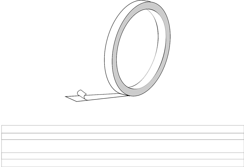 Quattroerre 10028 Rotolo Strisce Adesive con 3 Fili, Bianco