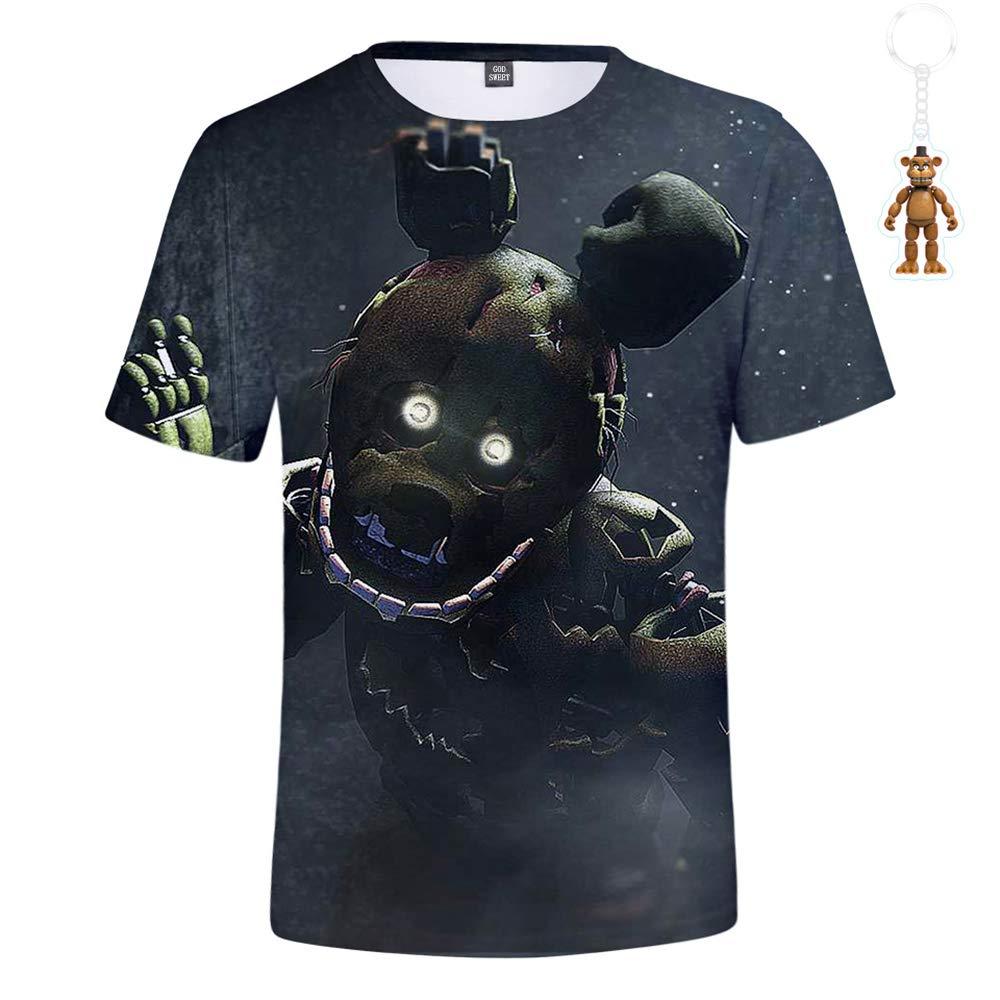 God Sweet Boys 3D FNAF T Shirt Kids Active Sports Five Nights at Freddys T-Shirt