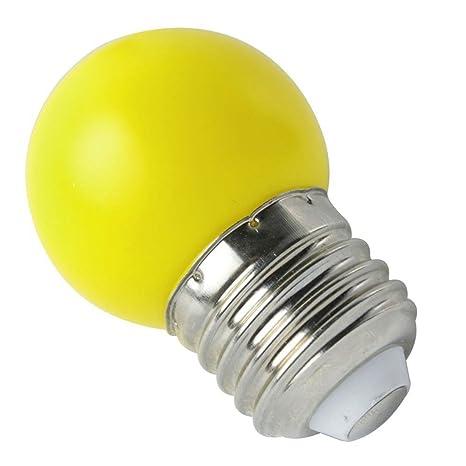 LED Bombilla de luz - SODIAL(R) E27 LED Luz amarillo calido Bombilla lampara