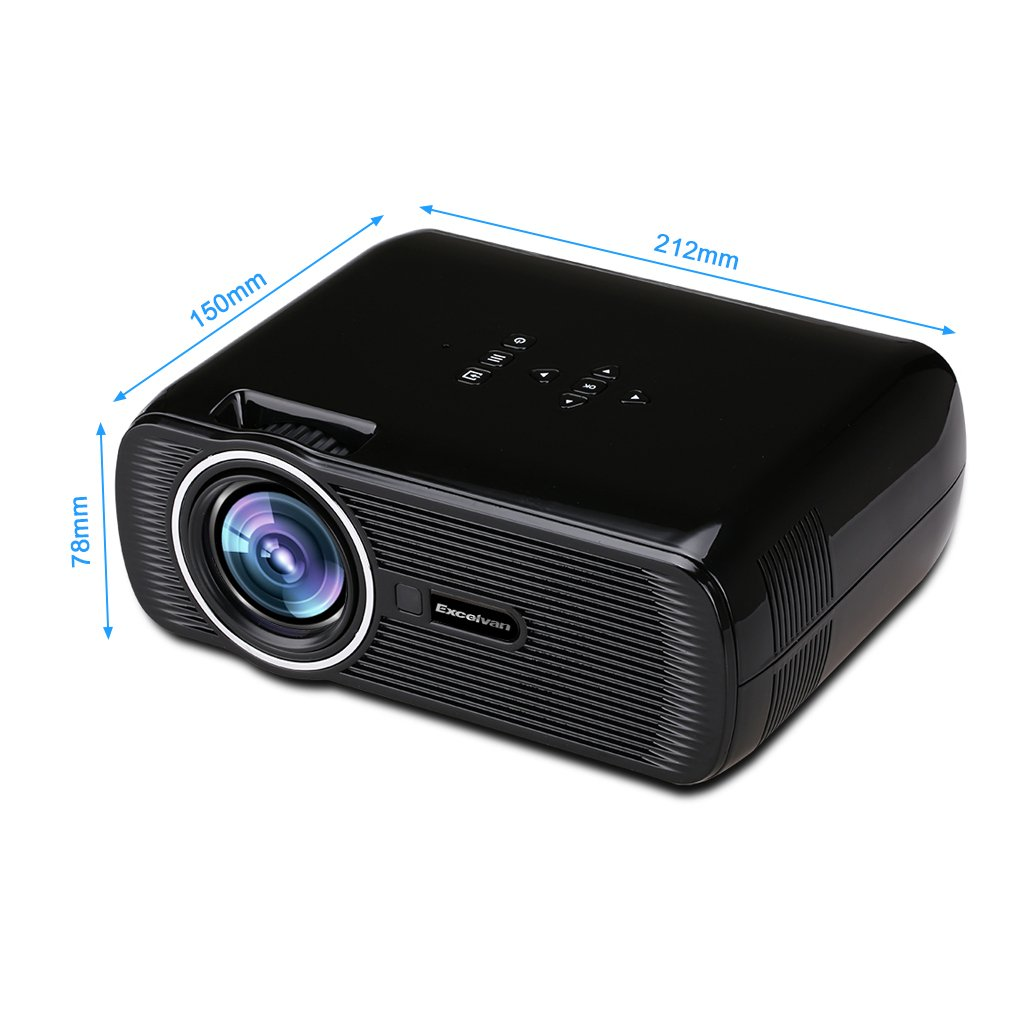 Amazon.com: Excelvan Multimedia LCD Proyector LED Portátil ...