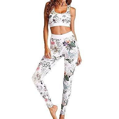 watch 41ee8 7ff31 Morbuy Bekleidung Yoga Set, Damen Sportbekleidung Hohe Yoga Leggings  Pullover Sportanzug Stitching Sport Wear Casual Fitness Sportanzug Frauen  Hemd ...