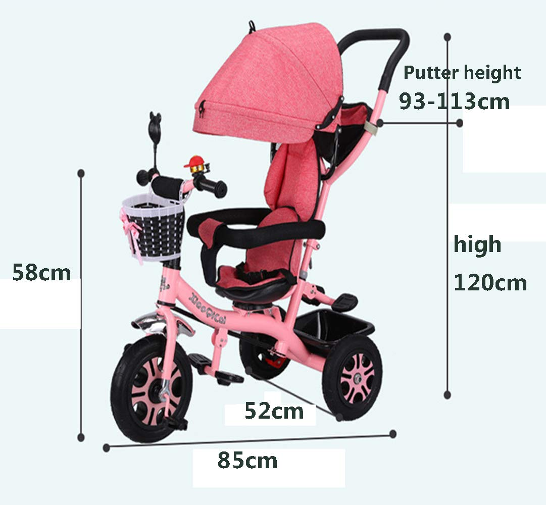 Amazon.com: W&P 4-in-1 Kids Tricycle,Stroller Trike with ...