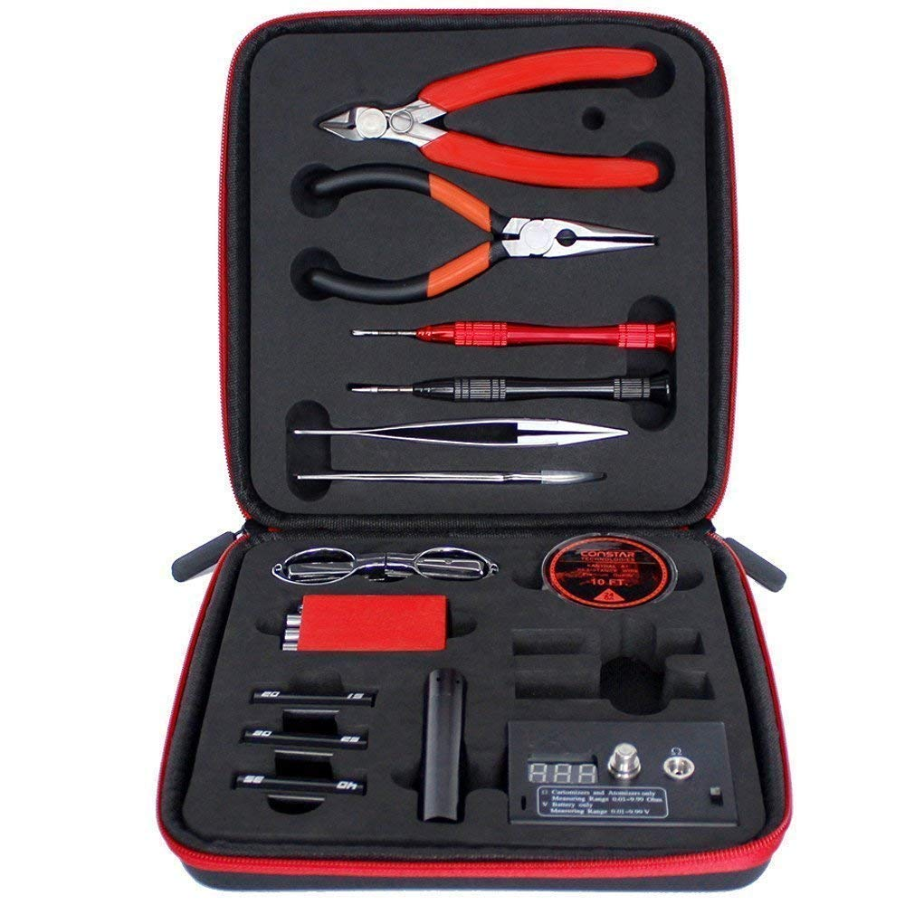 Walant Coil DIY Tool Kit V3 nueva versi/ón Set Accesorios Coil Master Bobina Jig con un enrollador //Mini pesta/ña 521/Unidad Ohm//pinza//inal/ámbrico resistente al calor V4