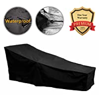 F Fellie Cover 82 Inch Water Resistant Patio Chaise Lounge Covers Durable  Outdoor Lounge Chair