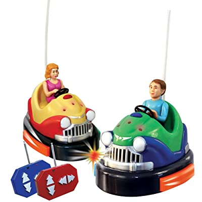 Remote Control Battery Powered Bumper Cars Game: Toys & Games