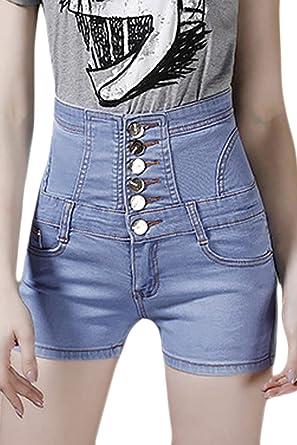 Yacun Femmes Le Short Jeans Haut Base des Pantalons Sexy en Fête   Amazon.fr  Vêtements et accessoires 09afc4d50899