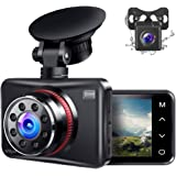 Ainhyzic Dash Cam Front and Rear Dual Dash Camera for Cars with FHD 1080P,Touch Button,170° Wide Angle, Infrared Night Vision
