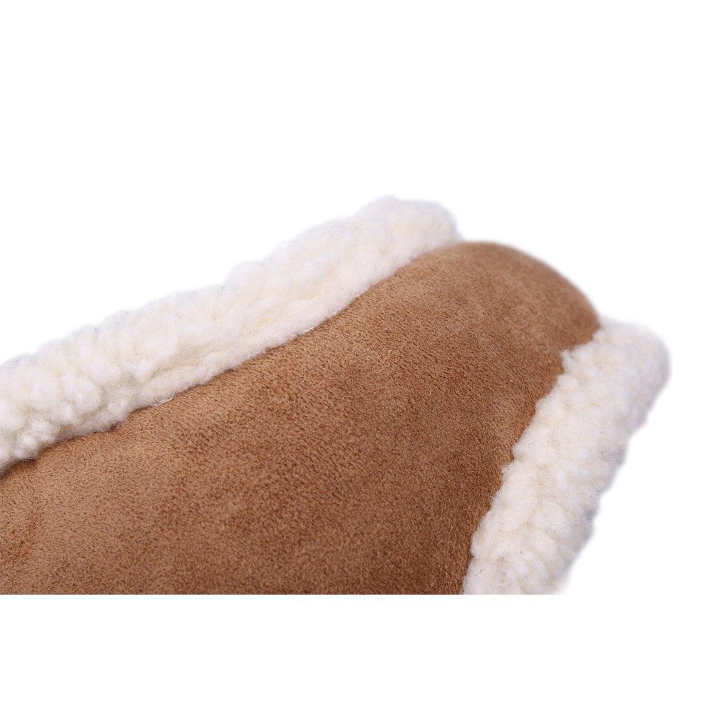 Unisex Warm Polar Fleece Ear Warmer Foldable Earmuffs for Outdoor Snowboarding