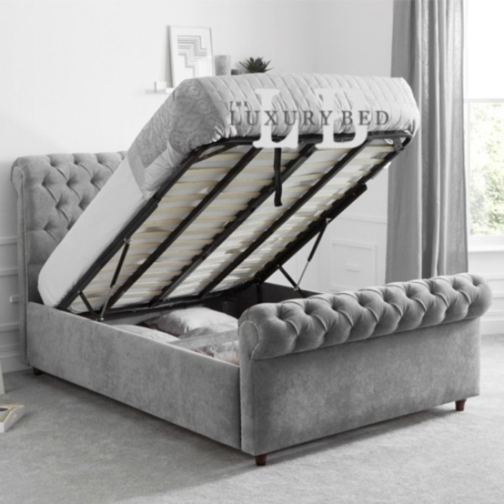 Miraculous Duke Chesterfield Ottoman Storage Bed With Headboard Footboard Easy Lift Up Spring Slatted Base Organizer Living Bedroom Furniture Double 137 Creativecarmelina Interior Chair Design Creativecarmelinacom