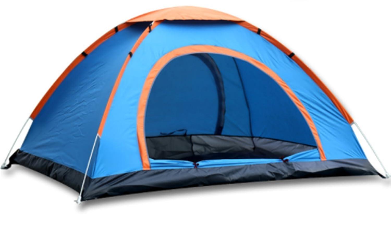 Yeying123 Zelt 2 Sekunden Automatisch Zu Öffnen 2-3 Personen Im Freien Camping Tourismus Doppeltür Zelt,Blau,2People