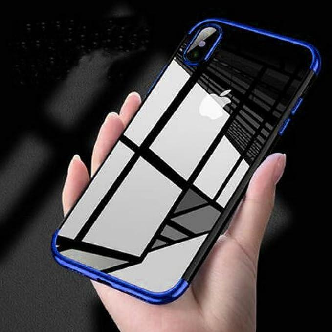 5 opinioni per Borkano Cover iPhone X, Custodia Trasparente Morbida di TPU [Ultra Leggere e
