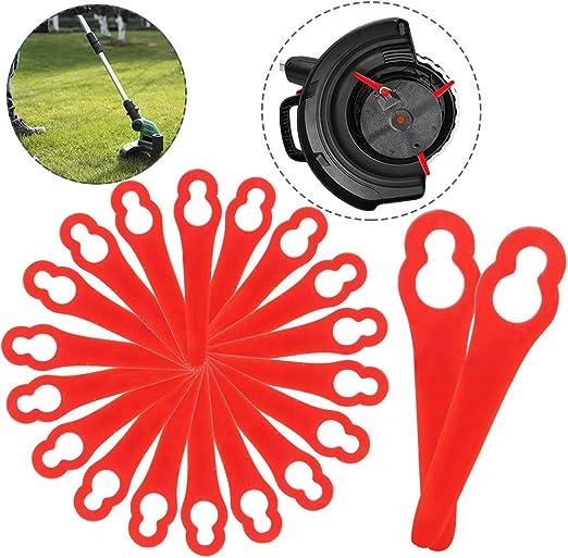 BETOY Cuchillas de Plástico, Cuchillas DE Recambio para GE-CT 18 Li (20 Piezas)-Desbrozadora Cuchillas cortacésped para Trim Conmutación Rápida hblades (Rojo): Amazon.es: Jardín