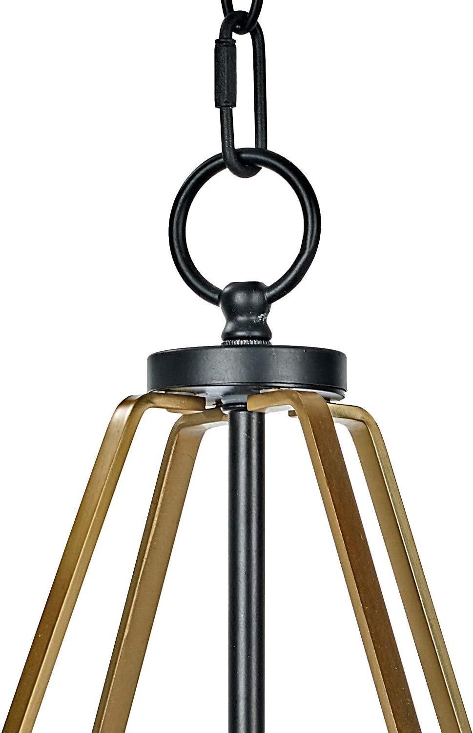 "MOTINI Ceiling Pendant Fixtures Lamp Industrial Metal Pendant Light, Hanging Cage Globe Ceiling Light for Kitchen Island Dining Room Farmhouse Entryway Foyer, 21""x13.5""x13.5"" - -"
