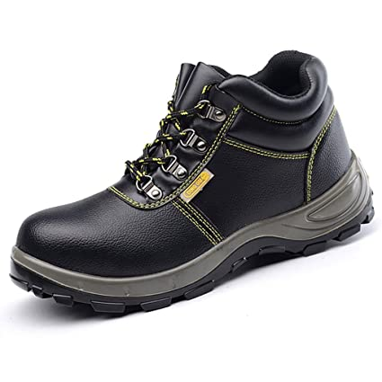 ZYFXZ Zapatos de Seguridad Calzado Ligero de algodón para Hombres, Anti-aplastante y punzante