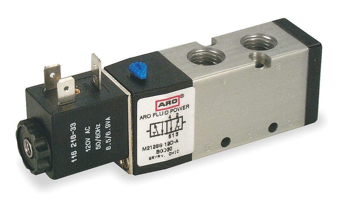 ARO M214SS-120-A Solenoid Air Control Valve,1//2 In,120VAC