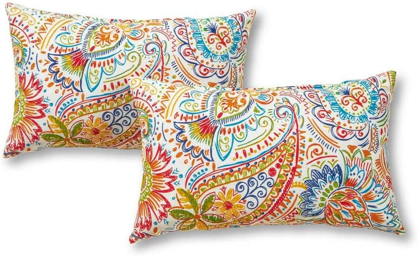 Greendale Home Fashions Rectangle Outdoor Accent Pillow, Jamboree + Freebies