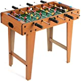 """N+A Foosball Table, Mini Football Table with Wood for Adults and Kids Billiard Soccer Competition Sports 27"""" Home Game Room T"""