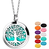 Essential Oil Necklace Diffuser Necklace Stainless Steel Not Fade Gift Set for Women and Girls
