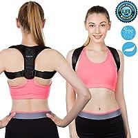 YOMYM Corrector de Postura Espalda Completa Cinturones de Soporte para Alivio del Dolor en la Parte Superior e Inferior de la Espalda, con Tirantes elásticos Suaves Ajustables, Hombres Mujeres