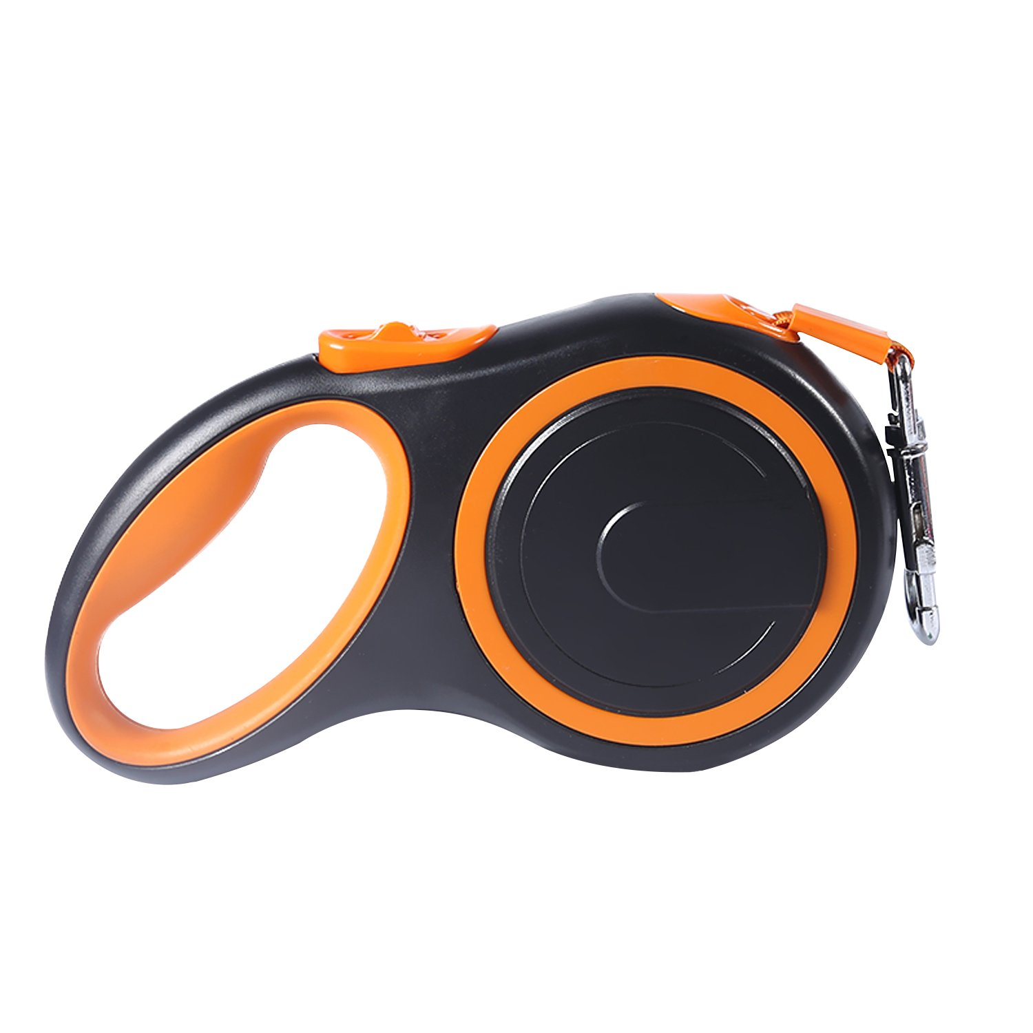 orange Pet Deluxe Retractable Dog Leash, Pet Walking Leash Retractable 16.5 ft for Small Medium Large Dogs Up to 88lbs, Tangle Free with One Button Break & Lock, Dog Walking Running & Training (orange)