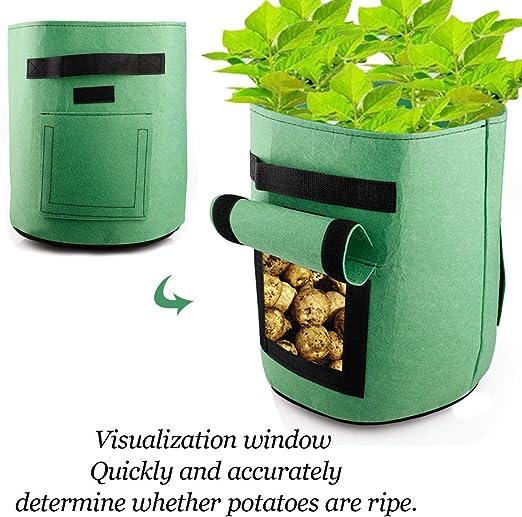 Bolsas de cultivo para plantas de jardín de 10 galones, bolsas ...