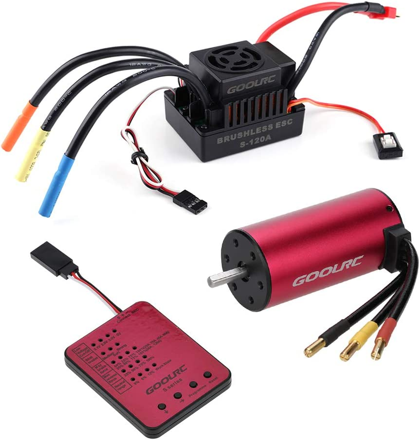 B06XXWM15X GoolRC S3674 2650KV Sensorless Brushless Motor 120A Brushless ESC and Program Card Combo Set for 1/8 RC Car Truck 61Vu8sHc-eL.SL1000_