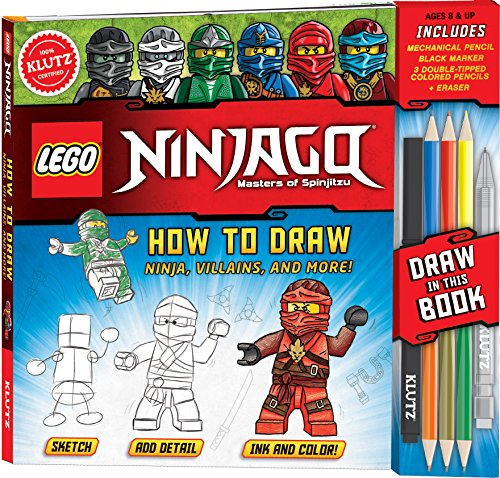 KLUTZ LEGO NINJAGO How To Draw Ninja, Villains, And More! Drawing Set -