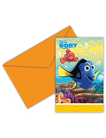 0ad9c0803c4 6 Finding Dory Die-Cut Invitations and Envelopes (72256)  Amazon.co.uk   Office Products