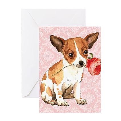 Amazon Cafepress Chihuahua Rose Greeting Card Note Card