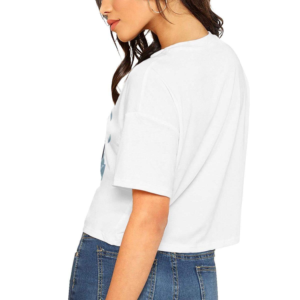 BROOKE Woman Fashion Personalized Sans Top Midriff Tshirts Black