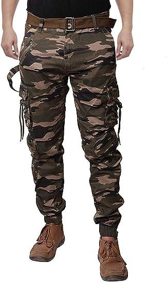 Zacharias Men's Cotton Relaxed Fit Zipper DORI Cargo Jogger Pants Men's Casual Trousers at amazon