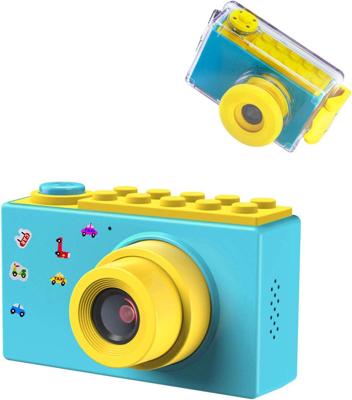 ShinePick Impermeable Cámara Fotos Niños, Zoom Digital de 4X / 8MP / 1080P HD / 2
