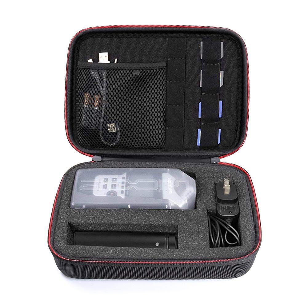 Lijuan Qin Portable Recorder Storage Case with DIY Foam Inlay for Zoom H1 H2N H5 H4N H6 F8 Q8, Handy Music Recorders Charger Mic Tripod Adapter Accessories Smart Padding Container for SD Cards