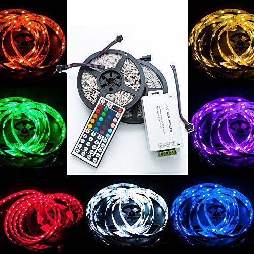 QUMOX 20m (10m x2) 2000CM RGB 5050 600 SMD LED Strip Leiste Streifen + 44 Key Fernbedienung