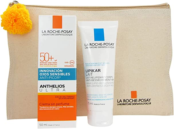 La Roche Posay Pack Solar Anthelios Ultra Fps50 + Crema 50ml + Lipikar Leite 75ml + Bolsa: Amazon.es: Belleza