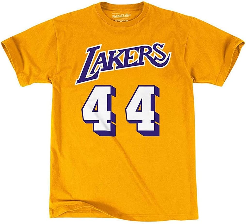 OuterStuff Mitchell /& Ness NBA Boys Youth 8-20 Hardwood Classics Name /& Number T-Shirt