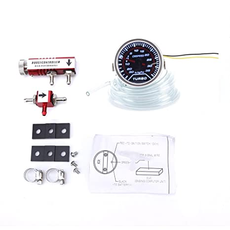 "cnspeed coche 2 Turbo Boost Gauge PSI ""52 mm + ajustable Kit controlador Turbo"