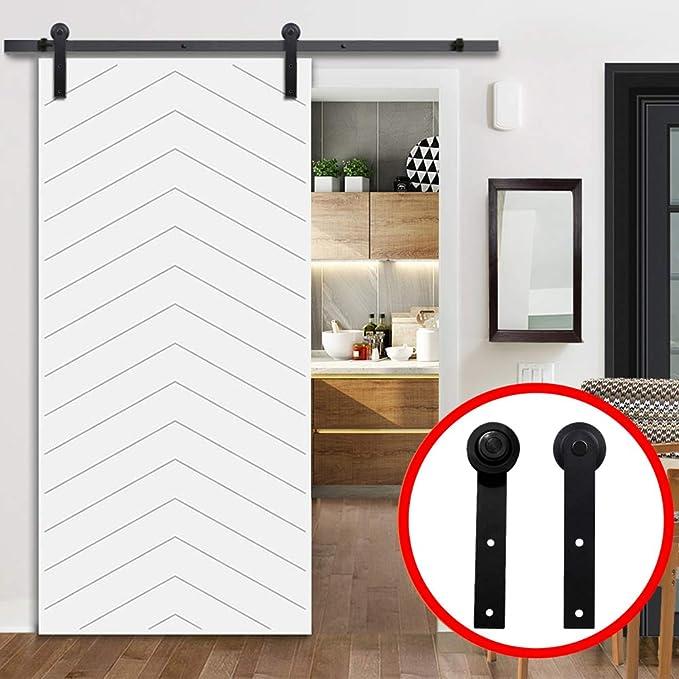 housesweet Kit de herrajes para puertas corredizas corredizas, riel de suspensión montado en la parte superior Riel de puerta resistente, robusto, suave, silenciosamente cerrado: Amazon.es: Bricolaje y herramientas