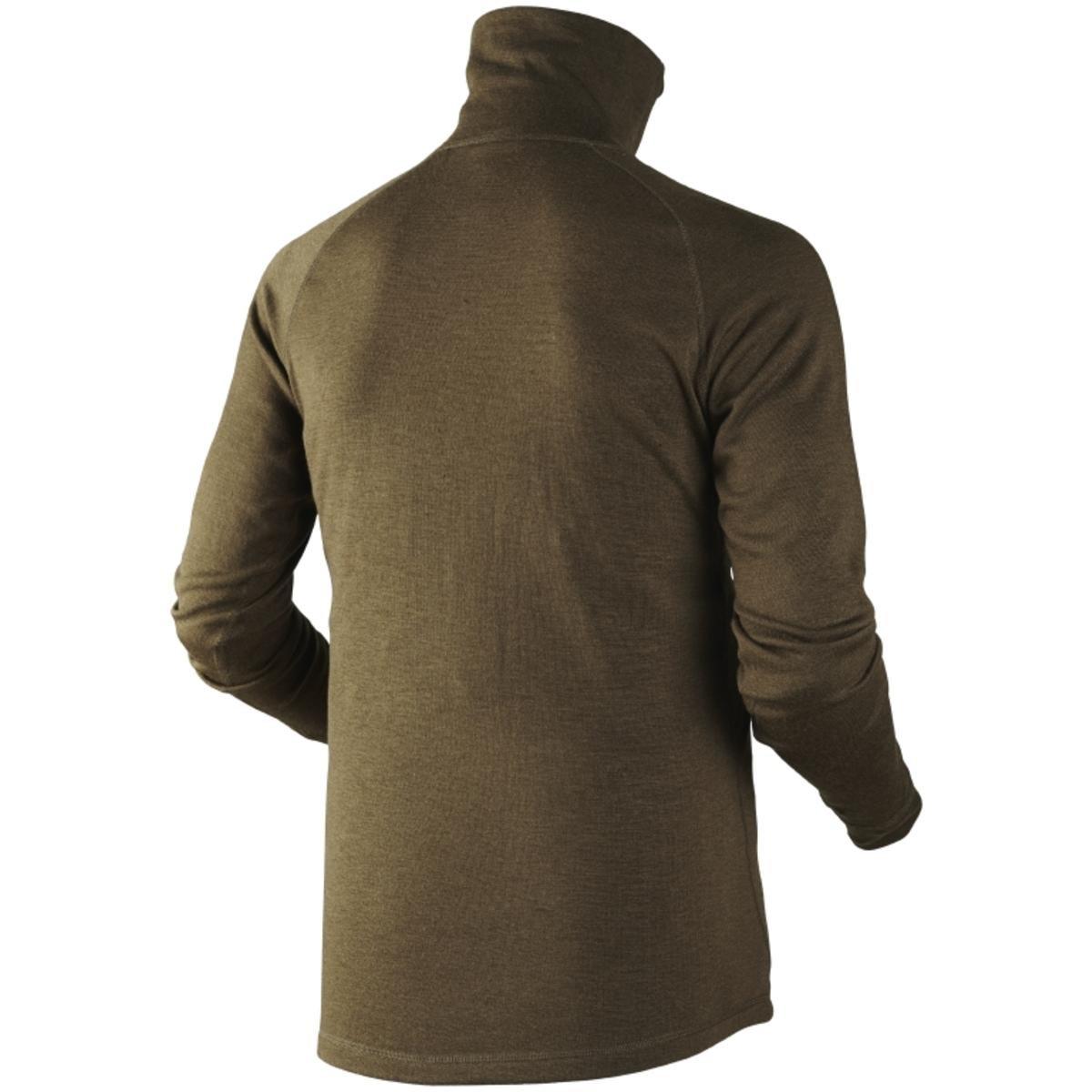 Harkila Coldfront Camisa Cremallera en Cuello Caza Verde ...