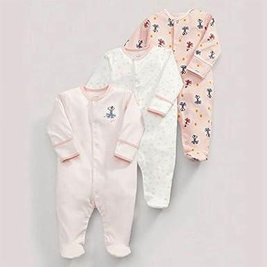 TOOGOO Primavera y otono lindo rosado pelele de bebe de ...