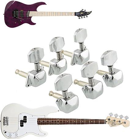 6 x Clavijas Llave Llaves Afinación Guitarra Eléctrica Bajo Tuning ...