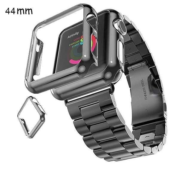buy popular d30eb b87e6 Amazon.com: Vicstar Case for Apple Watch Series 4 44mm Super Thin ...