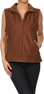 product image for Full Zip Up Polar Soft Fleece Vest with Classic Fit Collar and Pockets. Outdoor Sportswear