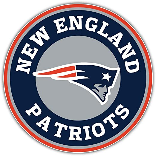 New England Logo Decal 5 X 5 Patriots Football