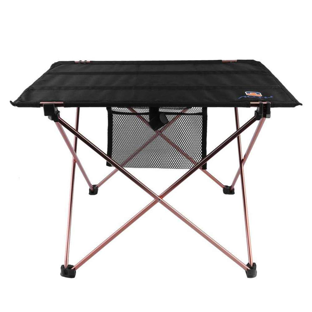 OTTAB Outdoor Folding Table Aluminium Alloy Picnic Camping Desk Table Roll Up Durable Waterproof Lightweight with Carrying Bag by OTTAB