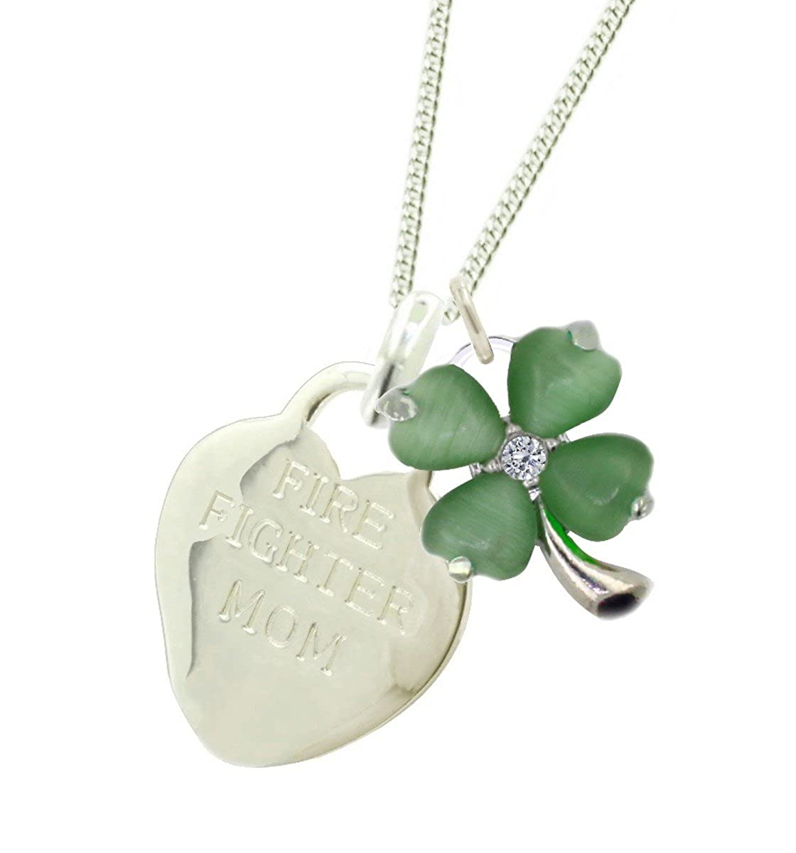 Plated Firefighter Mom Necklace CLO